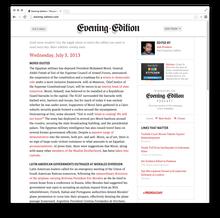 <cite>Evening Edition</cite>