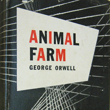 <cite>Animal Farm</cite> by George Orwell (1st US Edition)