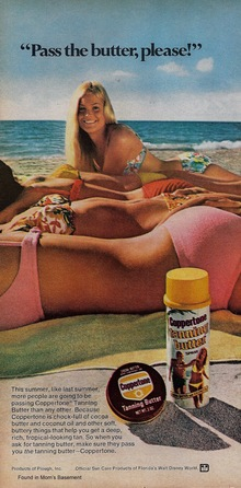 Ad for Coppertone Tanning Butter