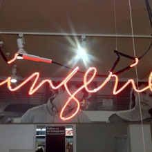 Lingerie Sign at American Apparel