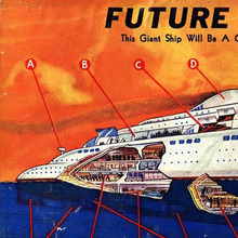 Sea Vessels from <cite>Amazing Stories</cite> (1938–39)