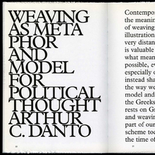<cite>Shiela Hicks: Weaving as Metaphor</cite>