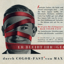 Max Factor Color-Fast Ad (1957)