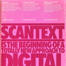 Scangraphic Scantext 1000 Documentation (1985)