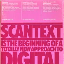 Scangraphic Scantext 1000 Documentation (1985)