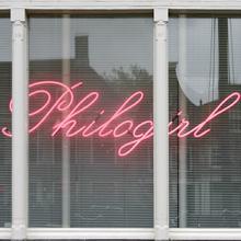 <cite>Philogirl</cite> Neon Sign