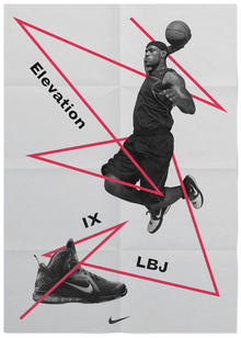 Nike LeBron 9 Shoes Ads (Design Explorations)