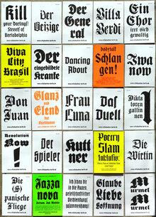 Volksbühne Berlin Flyers and Leaflets