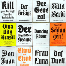 Volksbühne Berlin Flyers and Leaflets