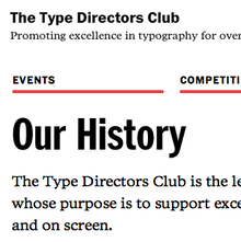 Type Directors Club Website