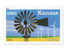 Kansas Statehood Stamp
