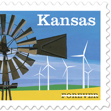 Kansas Statehood Stamp
