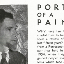 "<cite>The Art of Ian Bow:</cite> ""Portrait of a Painter"""