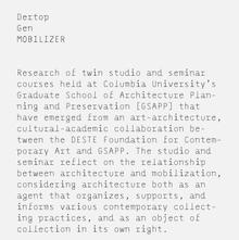 <cite>Mobilizer Dertop Gen</cite> Poster
