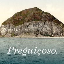 <cite>Preguiçoso.</cite> Postcard