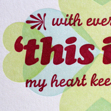 """This Is It"" valentine card"
