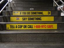 "MTA Public Notice: ""If you see something, say something."""