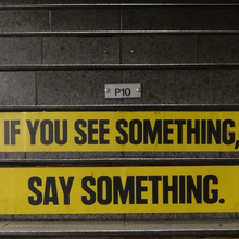 "MTA Public Notice: ""If you see something, say something."""