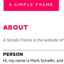 A Simple Frame website