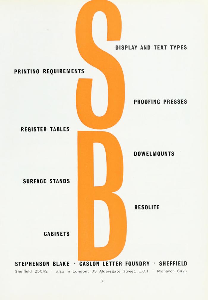 Stephenson Blake ad 1960.png