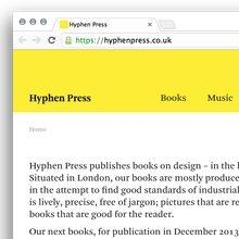 Hyphen Press Website