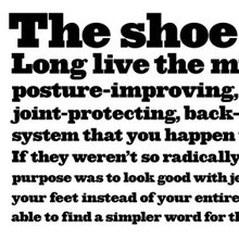 """The anti-shoe"" Campaign for MBT"