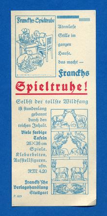 <cite>Franckhs Spieltruhe</cite> Ad