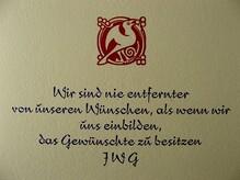 Goethe Aphorism Card
