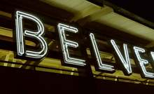 Belvedere Square Market neon sign