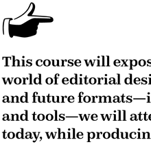 Publishing Design syllabus