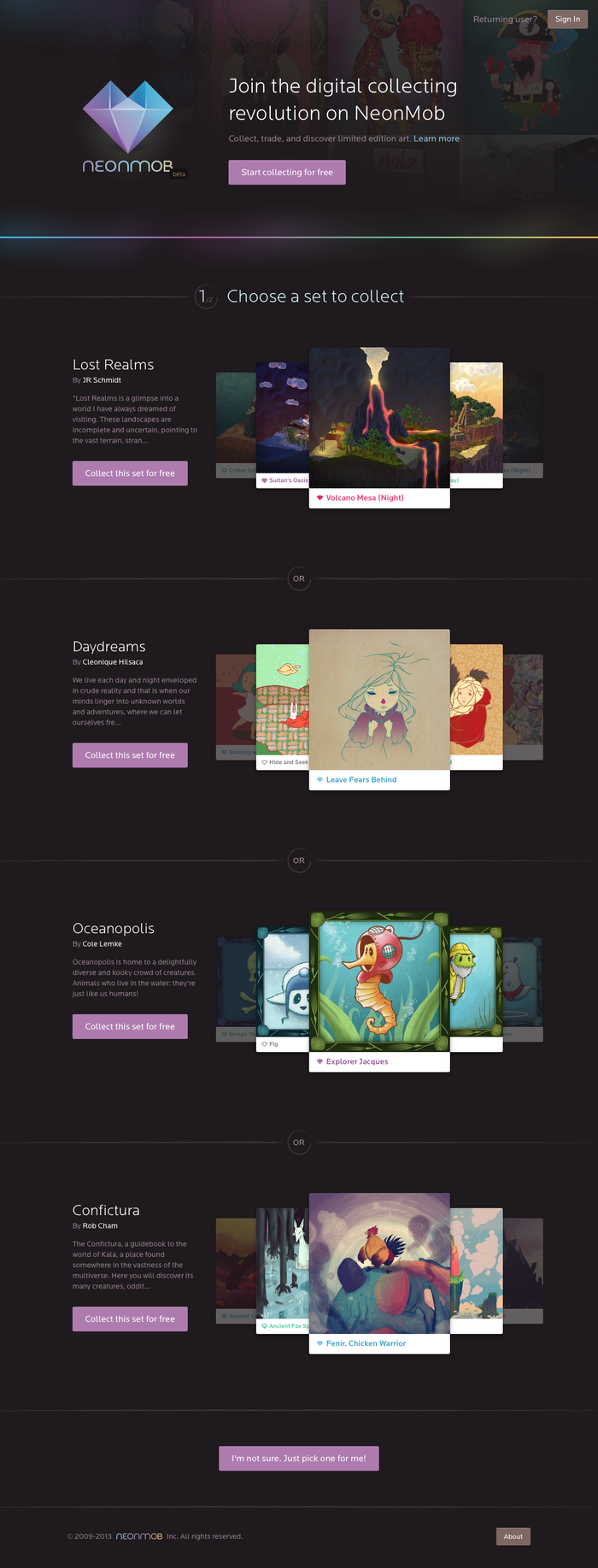NeonMob — collect original art with friends.p