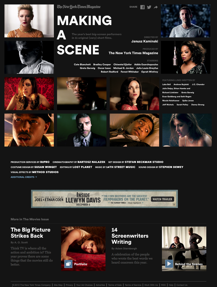 Making a Scene - Video Feature - NYTimes.com.
