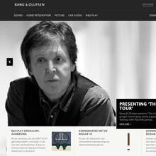 Bang & Olufsen website
