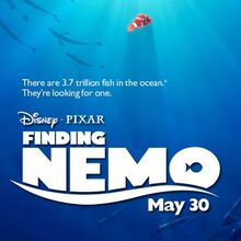 <cite>Finding Nemo</cite> logo and posters