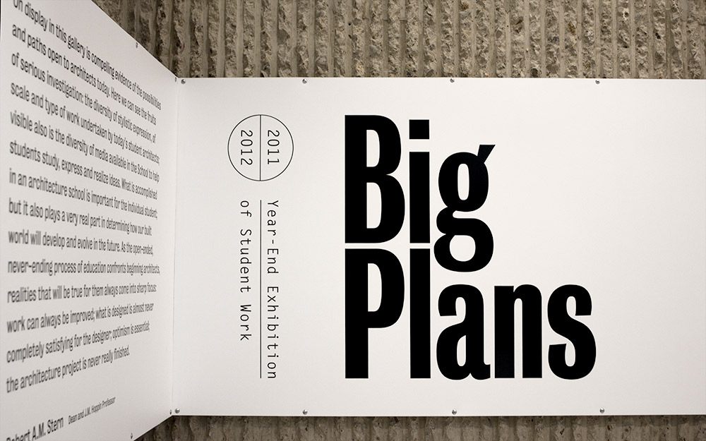 Big plans · gallery · font bureau