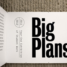 Big Plans exhibition design