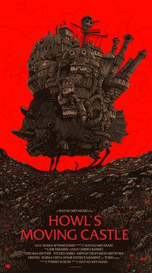 <cite>Howl's Moving Castle</cite> movie poster