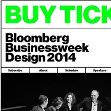 Bloomberg Businessweek Design Conference 2014 website