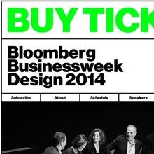 Bloomberg Businessweek Design Conference 2014 website