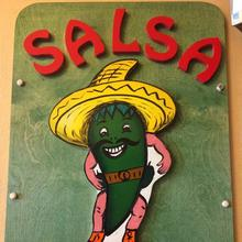 Salsa Bar Sign at Taqueria Guadalajara