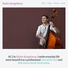 Nadav Spiegelman personal site