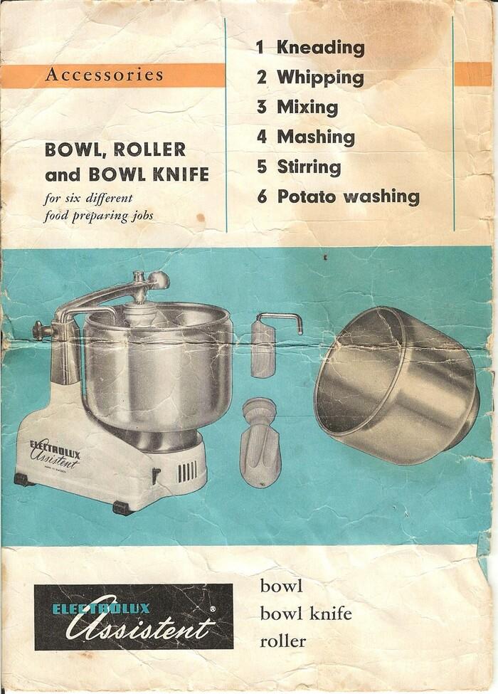 electrolux-assistent-dlx-model-n4-manual-food
