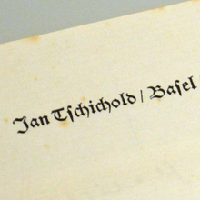 Jan Tschichold's letterhead, 1956
