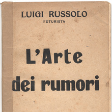 <cite>L'Arte dei rumori</cite> (The art of noises)