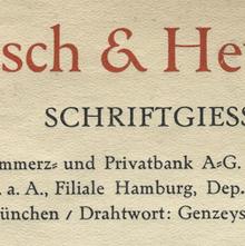 Genzsch & Heyse Letterhead 1931
