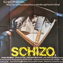 <cite>Schizo</cite> movie posters