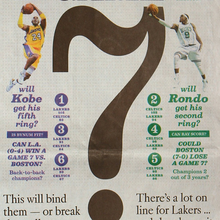 <cite>Los Angeles Times</cite> Sports Section: 2010 NBA Finals