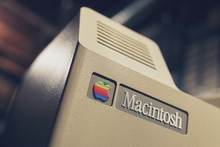 Macintosh logo and badge