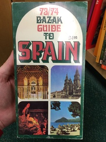 '73/'74 Bazak Guide to Spain book cover