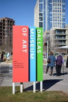Dallas Museum of Art signage